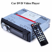 Wholesale Car Vcd Player - Wholesale- 1563U 12V Car Audio Stereo Support USB SD Mp3 Player AUX DVD VCD CD Player with Breakpoint Memory Playing with Remote Control