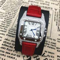 Wholesale Square Luminous Watch - Hot Items Women Watch Genuine Leather Colorful Famous Designer Noble Female Quartz Luxury Top Brand High Quality luminous handsFree shipping