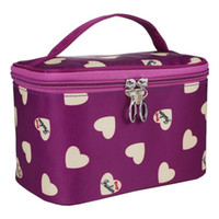 Wholesale cute cosmetic bags sale for sale - Fashion Cute Love Heart Pattern Women Ladies Maku Up Case Large Space Zipper Travel Tour Cosmetic Bag Hot Sale New