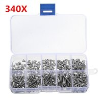Wholesale Allen Head - 340pcs M3 Stainless Hex Socket Button Head Screws Allen bolt Nut Assortment Kit