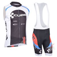 Wholesale Racing Bike Cube - New cube tour de france men Cycling sleeveless Jerseys Cycling Clothing set summer Racing Bike wear maillot Ciclismo hombre D0716