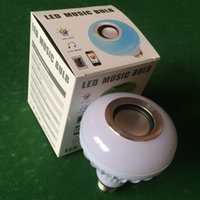 Wholesale live speakers resale online - wireless control Music LED bulbs RGB W Bluetooth speaker LED bulb could be with USB function with USB function