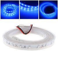 Wholesale Led Strip Stage - Wholesale 12V 1M 60 LED Blue Strip Light with Waterproof and Double-Sided Adhesive for Party KTV Stage Decoration DEL_01U