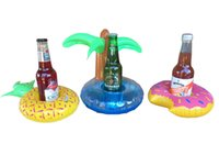 Wholesale Beach Sellers - Floating Inflatable Drink Can Holder for Pool Beach or Bath Oz Seller Flamingos Donut Watermelon Lemon Pineapple Inflatable Coasters