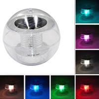 luz festiva conduzida venda por atacado-Luz Solar Água Branqueamento À Prova D 'Água LED Piscina Luzes Festivas Luzes Atmosfera Amarelo / vermelho / branco / verde / azul / colorido