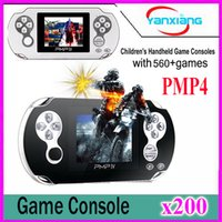 200pcs Classic PMP4 Portable Video Game Player Construit dans 560 jeux, Jeux d'arcade de soutien + GBA + SEGA + SFC / NES Jeux Kids Gift YX-PMP4