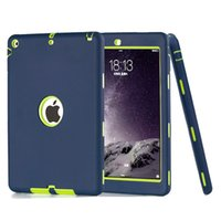 Wholesale Robot Defender - 3 in 1 Defender Robot Heavy Duty Shockproof Silicone TPU Hard PC Cover Case For New iPad 2017 Pro 9.7 2 3 4 5 6 Air Air2 Mini Mini4