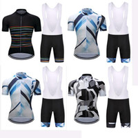 Wholesale Team Cycle Jerseys Wholesale - 2017 Polyester Pro MTB Bike Jersey pro team bicicleta maillot cycling clothing bicicleta Short Sleeves White Bib Set Clothing
