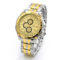 Wholesale Orlando Wristwatch - Fashion Steel Analog Quartz Men Watches ORLANDO Men Three six-pin Dress watch Business Wristwatch Relojes Gold Silver Watches