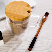 Wholesale Stir Spoon - Natural Wood Coffee Spoon Honey Stick Bar Spoon Long Handle Wooden Tea Spoon, Iced Tea   Juice Stirring Spoon Tea Accessories