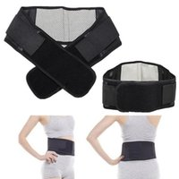 self heating magnetic therapy waist Australia - Wholesale- Adjustable Tourmaline Self-heating Magnetic Therapy Waist Belt Lumbar Support Back Waist Support Brace Double Banded aja lumbar