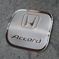 Wholesale Honda Fuel - NEW Honda Accord 2014-2017 Stainless Steel Fuel Tank Cover Decorative Trim Car Styling Fuel Tank Cap Decorative Cover AT3263