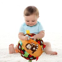 Vente en gros- Hot Sale 2017 Baby Taggies Toys Bell Cloth Ball Éducation précoce Teddy Developmental Peluches douces Peluches Jouets de lit