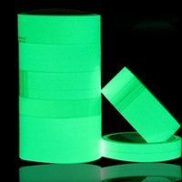 Autocollants Pour Animaux De Compagnie En Gros Pas Cher-Vente en gros- JF40016 Film luminescent PET DIY Glowing Lumious tapes Waring stripes Éclairage de nuit lignes d'urgence sticker mural autocollant vinyle
