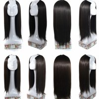 """Wholesale 65cm Hair - Sara U PartWig Hair Pieces Black & Brown Clip in Straight Hair Extension Synthetic Hairpiece Long 65CM,25"""""""