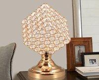 Wholesale Crystal Cube Lamps - Creative crystal decoration lamp bedroom modern minimalist wedding cube lamp bedside lamp