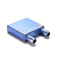 sıvı soğutucu cpu toptan satış-Toptan-Sıcak Alüminyum Su Soğutma Soğutucu Blok Su Bloğu Sıvı Soğutucu CPU GPU Toptan promosyon Için