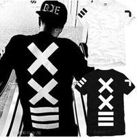hba camisa cadera al por mayor-camisetas para hombre XXlll hip-hop PYREX 23 / HBA street fashion camiseta de manga corta camiseta de los hombres con capucha por air hight quality envío gratis