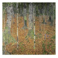 ingrosso arte dell'olio d'oliva-Gustav Klimt art Landscapes The Birch Wood riproduzione della tela a olio su tela dipinto a mano arredamento