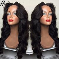 peluca de pelo promocion al por mayor-Haohao Hair Promotion peluca de cabello virgen brasileño de alta calidad pelucas de cabello humano de encaje completo para mujer negra