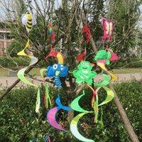 dibujos animados de insectos al por mayor-2017 nuevo Animal de dibujos animados Insecto Espiral Molino de viento Colorido Viento Spinner Rejilla Manga de viento Césped Jardín Patio Decoración al aire libre