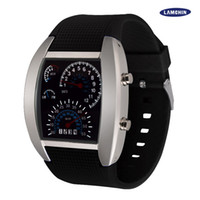 Wholesale Wholesale Auto Glass Prices - Best Price LED Watch Dashboard Aviation Men Sport Fashion Wristwatches For Like Auto Meter Silicone Battery Glass Watch