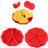 Cucina Cooking Fondant Biscotto Torta di formaggio Cookie Maker Mold Party Silicone Red Love stampi di cioccolato Piatto Home Strumenti Creative