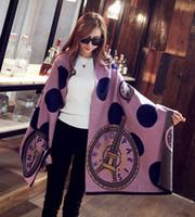 tours eiffel achat en gros de-2017 femmes automne hiver marque de mode designer laine écharpe en cachemire châle designer pashmina écharpe Tour Eiffel Paris