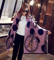 Wholesale paris pashmina scarf online - 2017 women autumn winter fashion brand designer wool cashmere shawl scarves designer pashmina Paris Eiffel Tower scarf