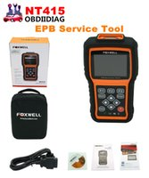 Wholesale Engine Abs Scan Tool - Original Foxwell NT415 EPB ABS SRS+CAN OBDII Diagnostic Scan Tool Turn off Check Engine Light Clears Codes Resets Monitors