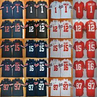 Wholesale Shorts Size 12 - Men Ohio State Buckeyes white red black 1 B.Miller 12 Jones 15 Elliott 16 Barrett 97 Bosa college jerseys stitched adult size free shipping