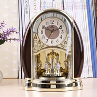 All'ingrosso-Home Decor orologio scrivania design moderno tavolo Decorative Clocks 3d stile POWER4208 vigilanza di orologio d'epoca Ago quarzo europeo