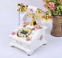 Wholesale Desktop Telephones - Telephone landline restoring ancient desktop furnishing articles Ye are top Garden antique landline retro Home Office telephone