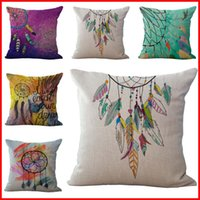 Wholesale indian beds - Indian Dreamcatcher Never Stop Dreaming Pillow Case Cushion cover Linen Cotton Throw Pillowcases sofa Bed Car Decorative Pillow covers