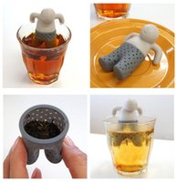 Wholesale Iron Teapot Set - Mr tea fred Teapot cute Mr Tea Infuser Tea Strainer Coffee & Tea Sets silicone fred