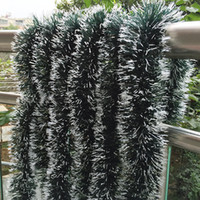Wholesale Wholesale Christmas Tinsel Garland - Wholesale-10pcs lot 2 meter length Garlands Tinsel Christmas tinsel Stage Decoration Ribbon Party Decorations Christmas Tree Decorations