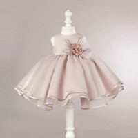 Wholesale Elegant Shows - CanCanKids 2017 Princess Flower Dress Elegant Girl's Bowknot skirt Sleeveless Show Ball Gown Party Baby Kids Mini Dress