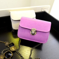 Wholesale Wholesale Small White Purses - Lovely Mini Women's Vintage Handbag Purse Girl Shoulder Bag Chain Messenger Cute Lady Small Gifts PU Brand New Candy Daughter - XQQ