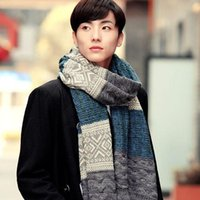 Wholesale Scarf Assorted - Wholesale- Fashion Men's Knitted Scarf Casual Shawl Wrap Muffler Assorted Color Scarves Warm Winter syal