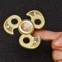 Metallo Eagle Head Fidget Spinners In lega di zinco Hawk Spinner lavorato a mano in metallo Falcon SpinnerEDC Decompression Fidget Toys