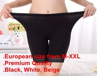 Wholesale Tight Shorts Panties - M-XXL PLUS European Size Quality Modal Elastic Stretch Short Pants Legging Underpants Safety Shorts Underwear Panties Tights Joggings Solid