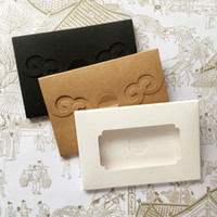 "Wholesale photo print paper sizes - 4""x6"" foldable Postcard packaging Boxes, photo window boxes,greeting card kraft boxes size 15*10.2*0.5cm ZA5070"