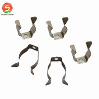 Wholesale Tube Clamps Wholesalers - T5 T8 T4 lamp tube clamp ring pipe clamp support clip retaining clip spring buckle metal clip fluorescent card,DHL Free shipping