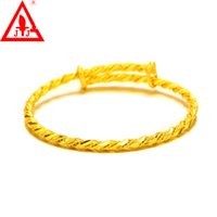 Wholesale Copper Push Plate - 24K Gold Plated Bangles New Arrival For Women And Men Luxury Fine Jewelry Hot Sale Limited Promotion Real Push Pull Bracelets Free Shipping