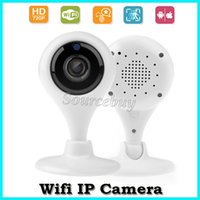 Wholesale Security Speakers - Free DHL Mini Wifi IP Cameras HD 720P Baby Moniter Wireless P2P Network TF Card Camera Night Vision Security Cam Speakers Motion Detecting