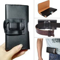 Wholesale Mobile Phone Holster Leather - Pouch Waist Bag Phone case Magnetic Snap Closure Universal Mobile Phone Belt Holster Clip PU Leather Cover