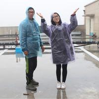 tragbare regenmäntel großhandel-Einweg-Reiseregenbekleidung Poncho mit vier Schnallen, tragbar, aus PE, Unisex-Regenmantel, Sport im Freien, nützlich, einmaliger Regenmantel 0 37hj F