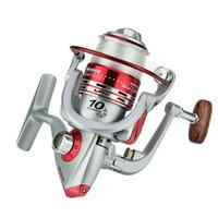 Wholesale Carp Spinning Reels - 10BB Bearing Spinning Fishing Reel 3000 Series Gear Ratio 5.5:1 Metal Spool Carp Fishing Wheel With Fishing Line #5