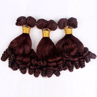 tejido suelto de estilos brasileños. al por mayor-Funmi Hair Brazilian Hair Bundles 99j Cheap El cabello humano teje 8-30 pulgadas Straight Body Wave onda profunda Loose Wave Curly 6 Style