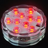 Venda por atacado - 2pcs / lot 10 leds RGB Led Underwater Light Pond submersível IP68 Waterproof Swimming Pool Light para festa de casamento